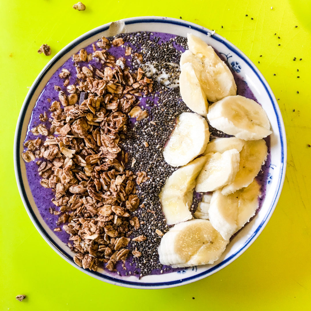 His is a lifestyle recipe for how to make a vegan acai bowl with raw ingredients